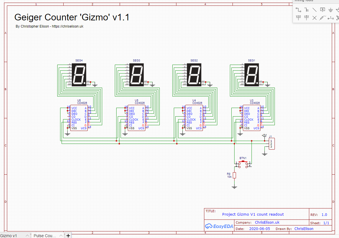 Project Gizmo readout schematic