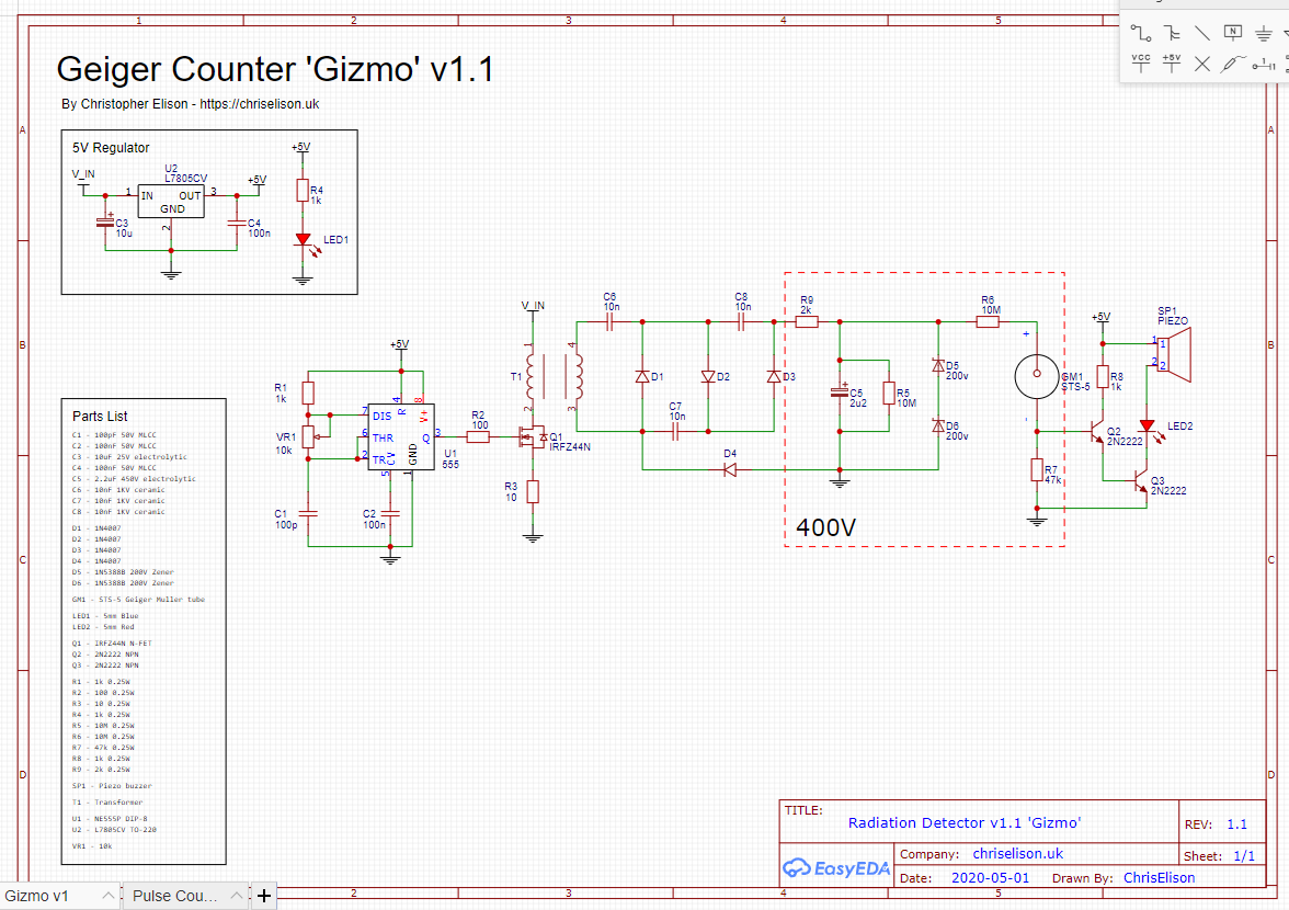 Project Gizmo 1.1 schematic