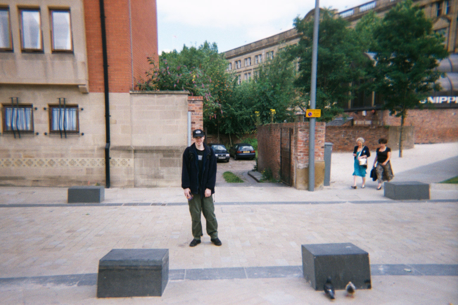 Me, Chris Elison in Cathedral Gardens, Manchester
