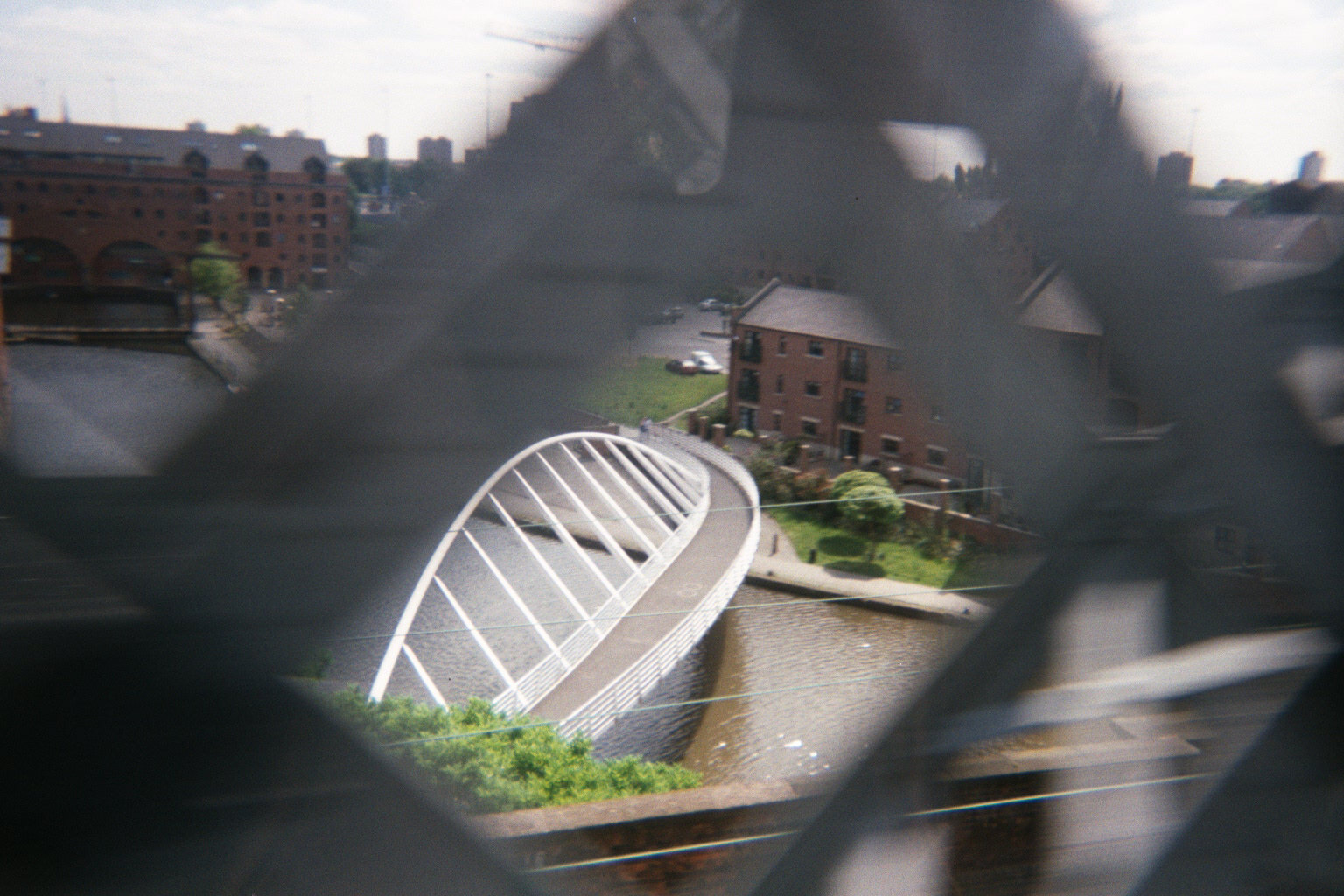 Hulme Locks bridge from the Metrolink