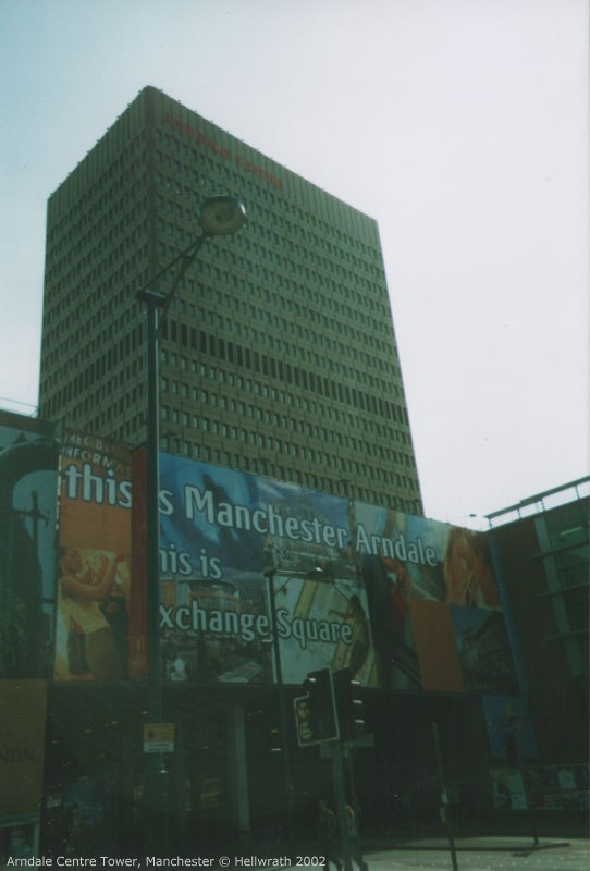 The Arndale tower from Exchange Square, Manchester