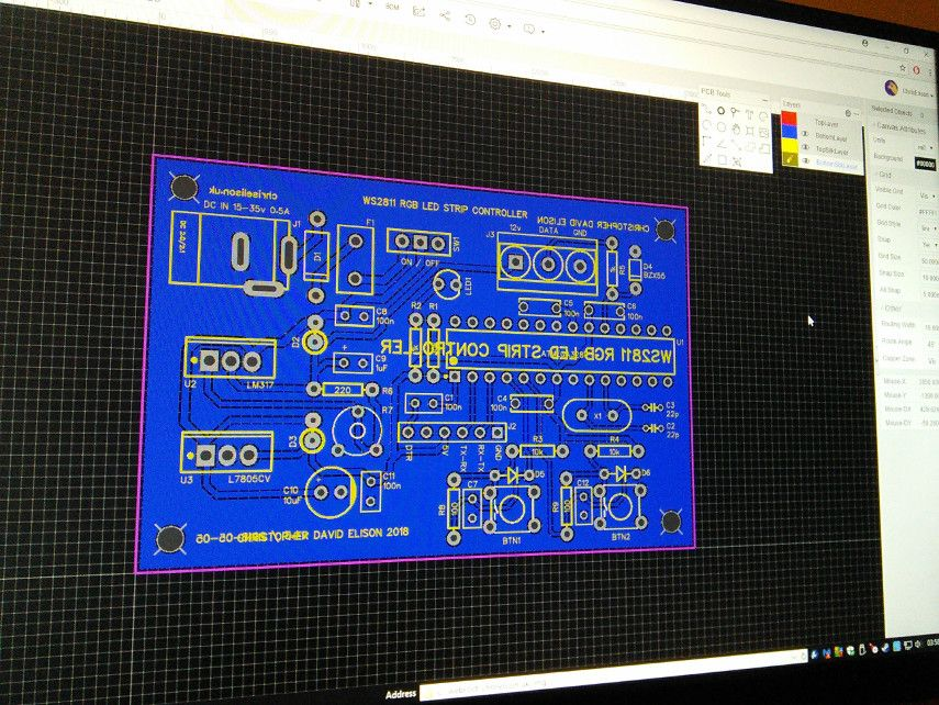 Designing my PCB in EasyEDA editor