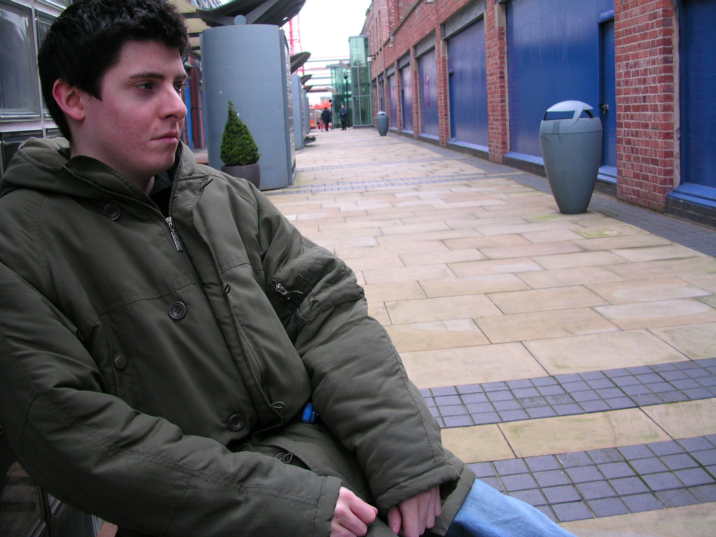 Me outside the AMC Cinema, Manchester