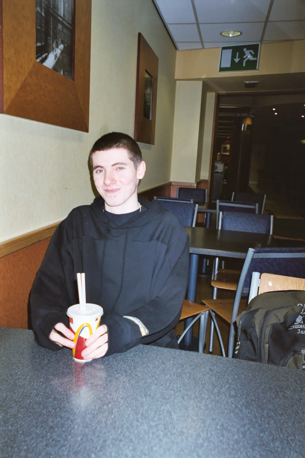 Me at McDonald's, St Ann's Square, Manchester