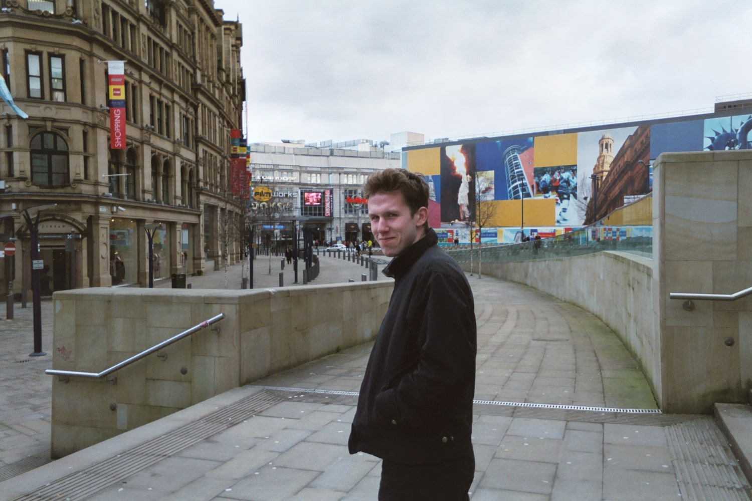 My friend Christian, Exchange Square, Manchester