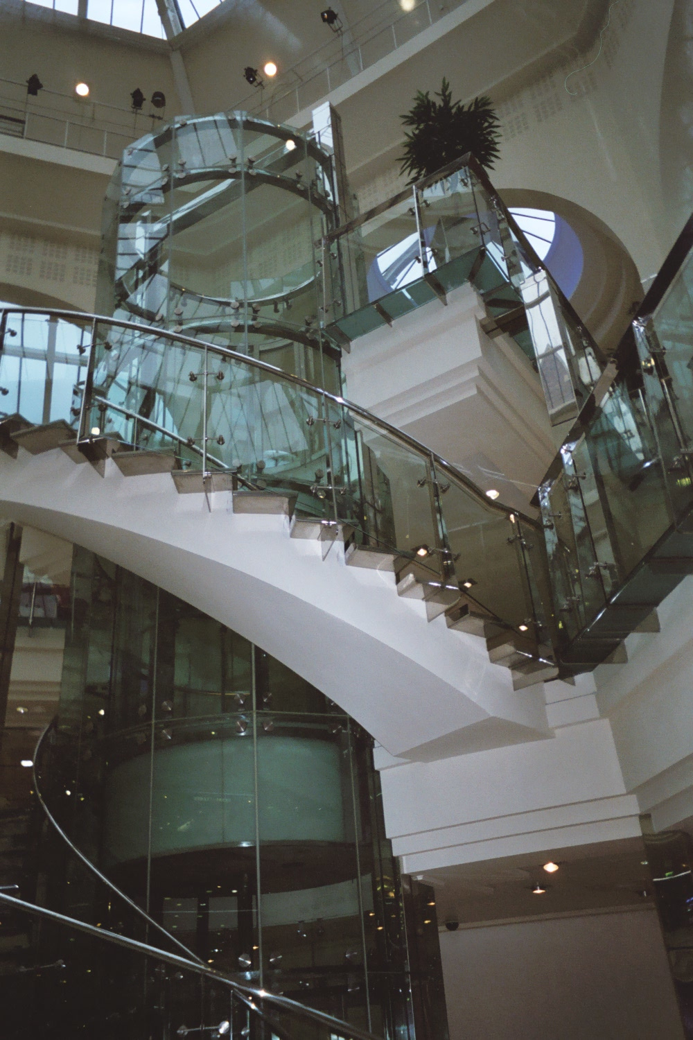 Lift and stairs in the Triangle/Corn Exchange, Manchester