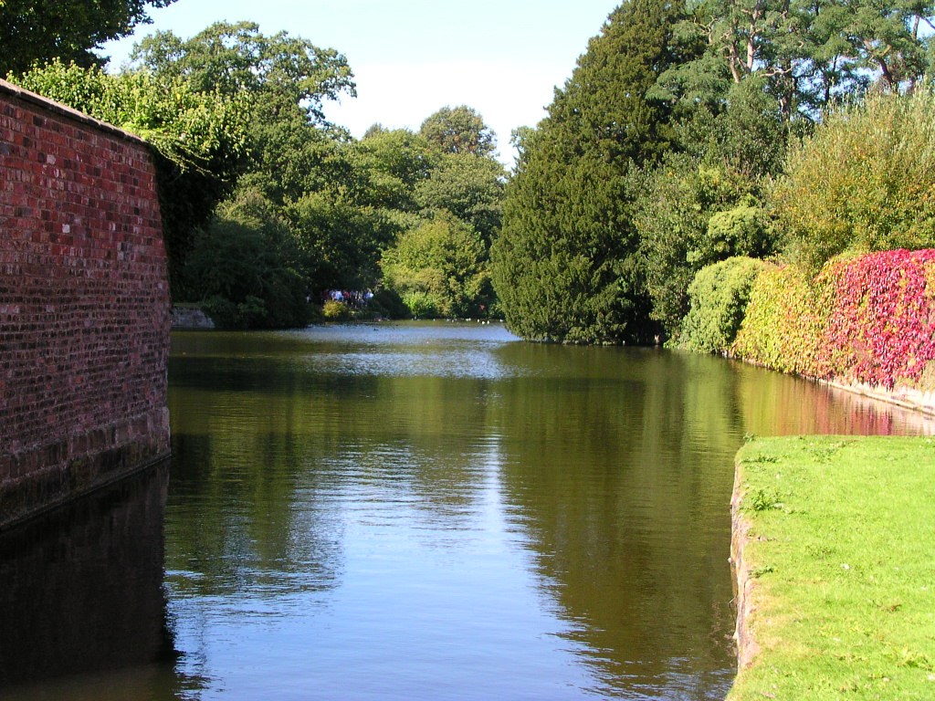 The moat at Dunham Massey, Cheshire