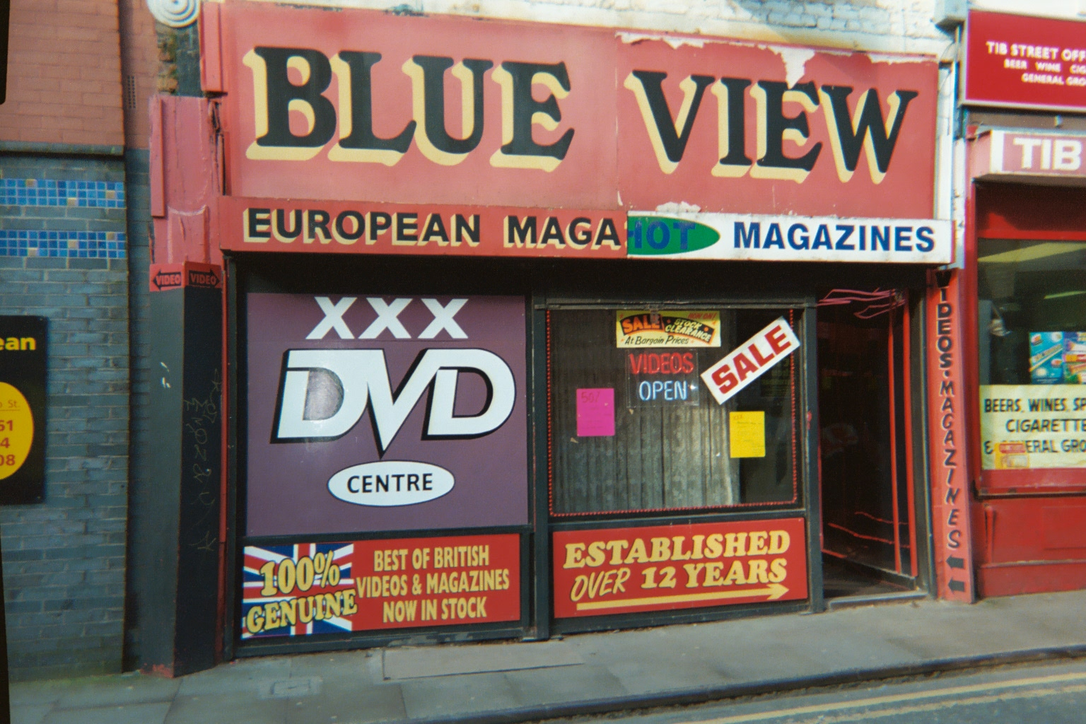 Blue View Sex shop on Tib St, Manchester