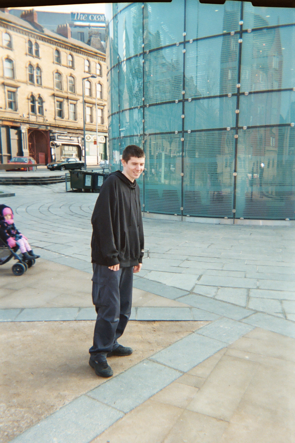 Me in Cathedral Gardens, Manchester