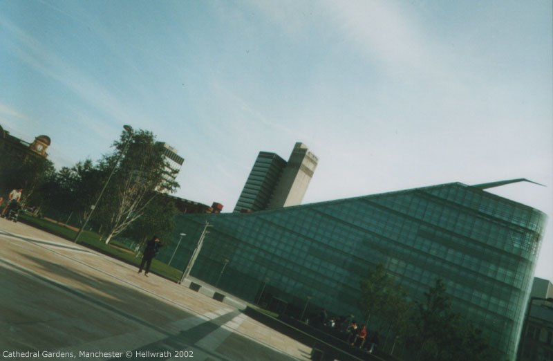 Urbis and the CIS building, Cathedral Gardens, Manchester