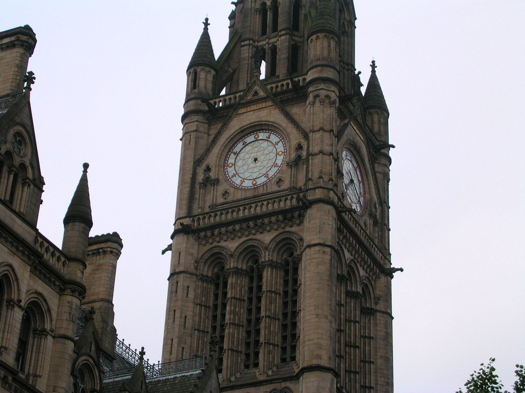 Town Hall clock, Albert Square, Manchester