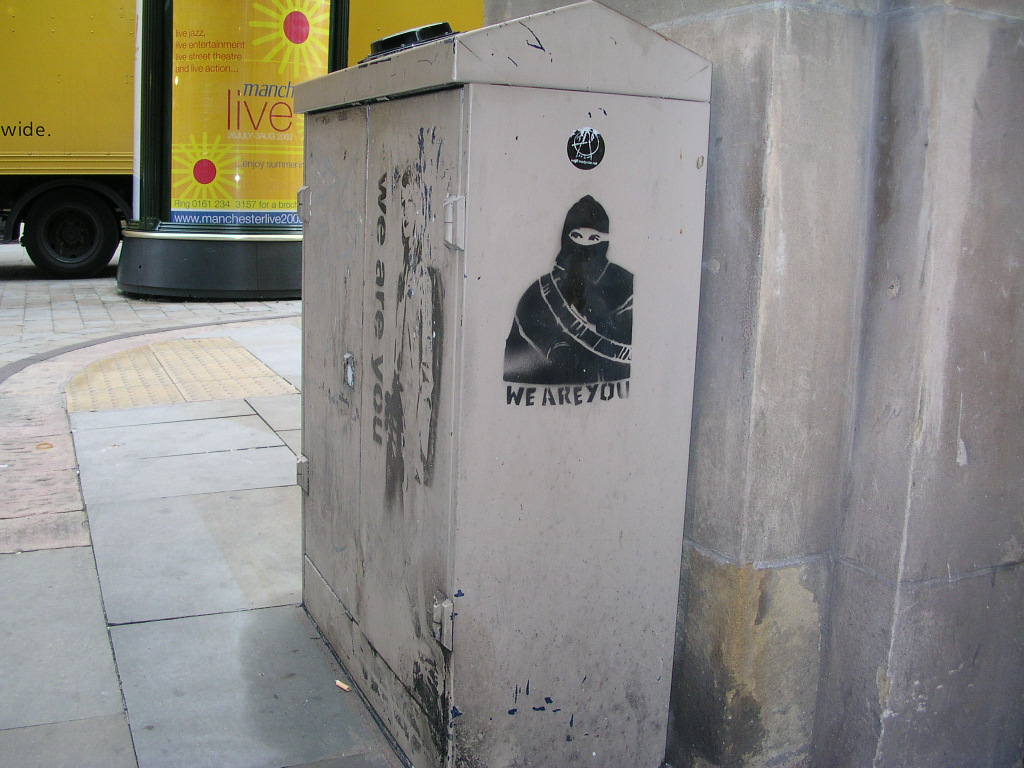 'We are you' graffitti, Four Yards, Manchester