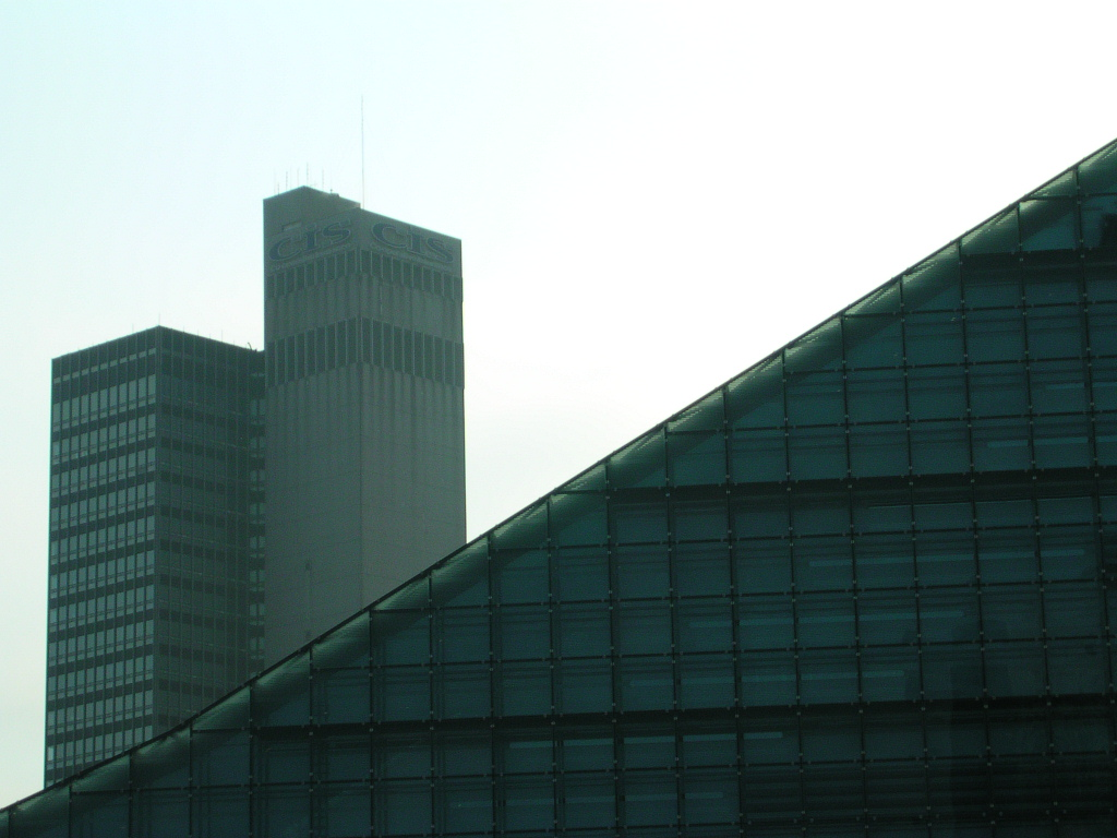 CIS tower and Urbis, Cathedral Gardens, Manchester