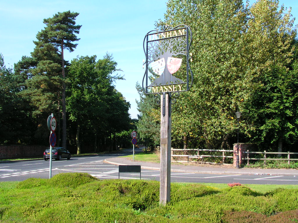 Village sign, Charcoal Road, Dunham Massey