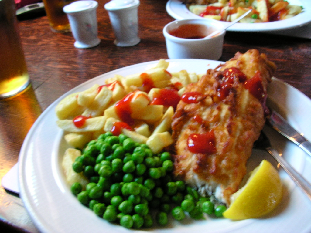 Fish & chips, The Axe & Cleaver, Dunham Town