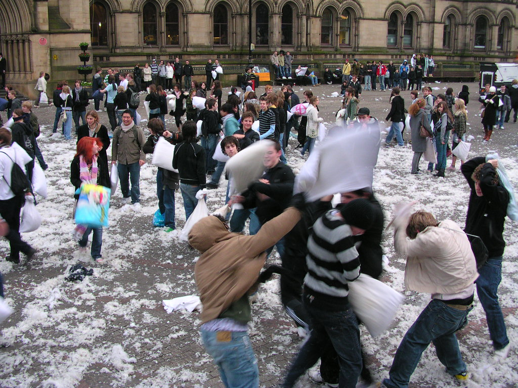 Manchester Pillow Fight