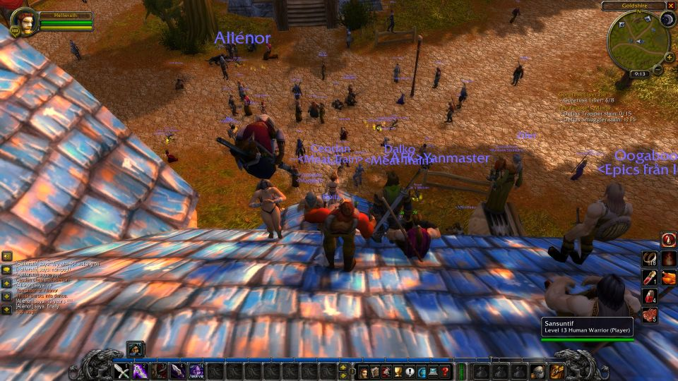 Wow Classic Lion's Pride roof chimney party