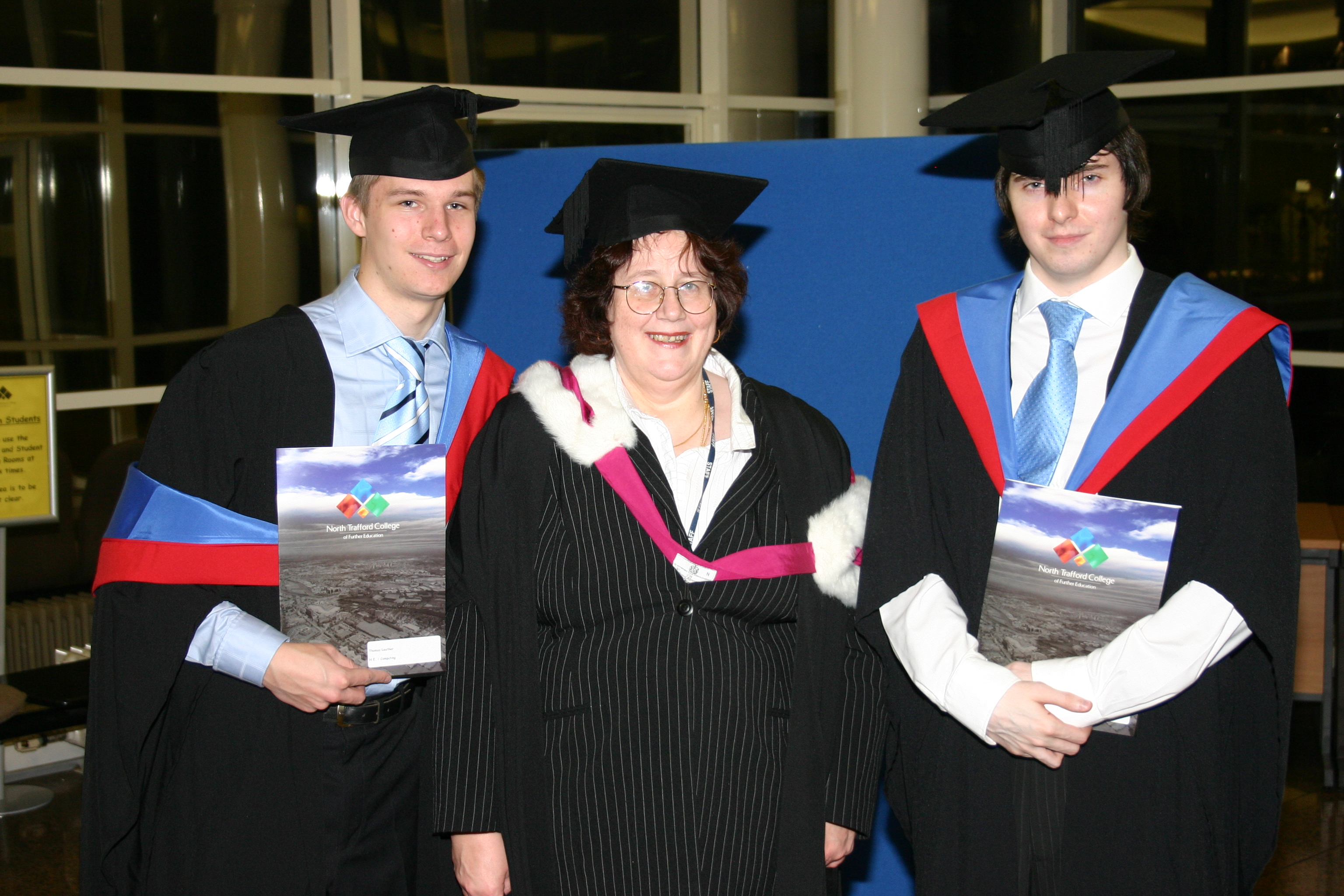 Me, Tom & Susan, awards evening, North Trafford College