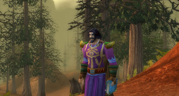 World of Warcraft human mage in Stonetalon Mountains